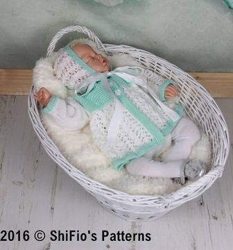 Download KP350 Chloe Matinee jacket and hat Baby Knitting Pattern #350 - Knitting Patterns immediately at Makerist