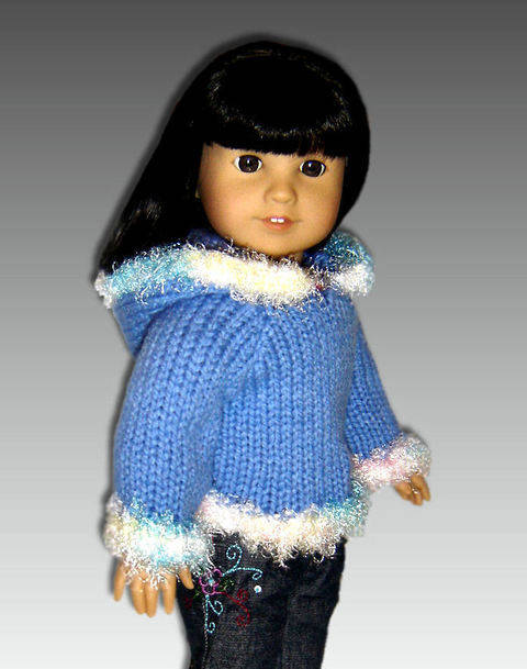 """Download Fun Fur Hoodie for 18"""" Doll immediately at Makerist"""