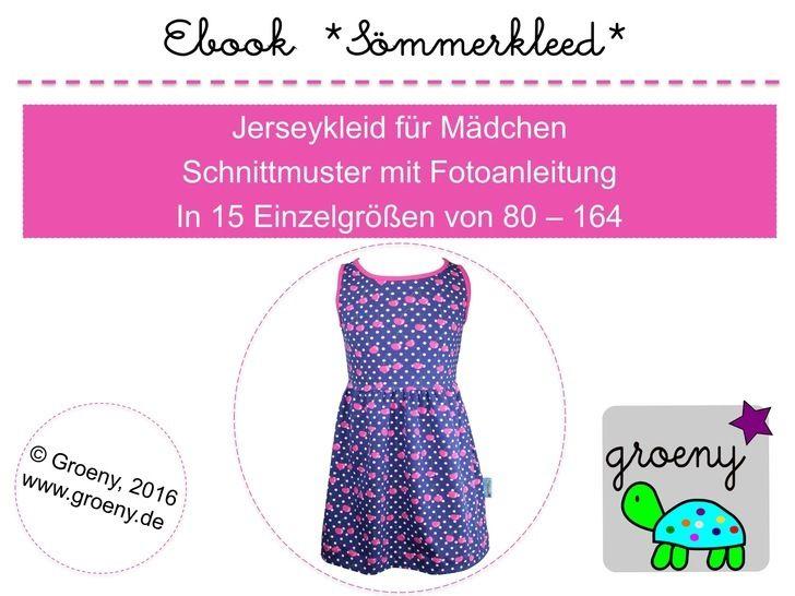 Ebook *Sömmerkleed* Jerseykleid Gr 80-164 - Nähanleitungen bei Makerist sofort runterladen