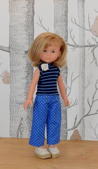 Télécharger Pois et rayures; patron pour poupée de 32 à33 cm type les Chéries de Corolle, et Amigas de Paola Reina exclusivité Makrist - Patrons de couture tout de suite sur Makerist