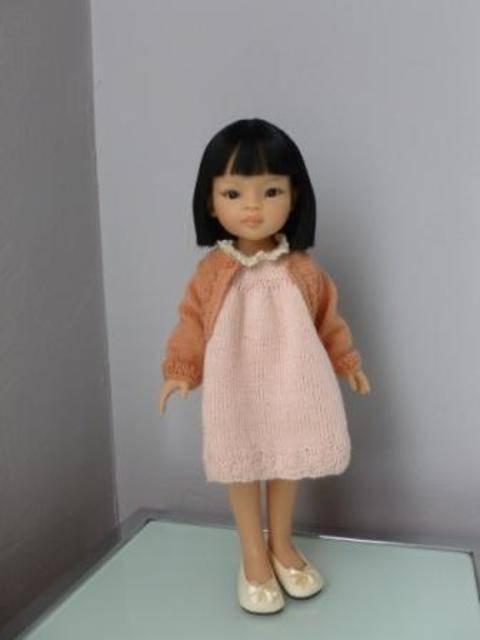 Télécharger Habits poupée - Aquarelle Nippone - poupée de 32 cm, à 34 cm, Chéries de Corolle, Amigas, Minouche - tricot tout de suite sur Makerist