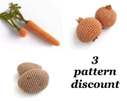 Download Vegetable Crochet Patterns immediately at Makerist