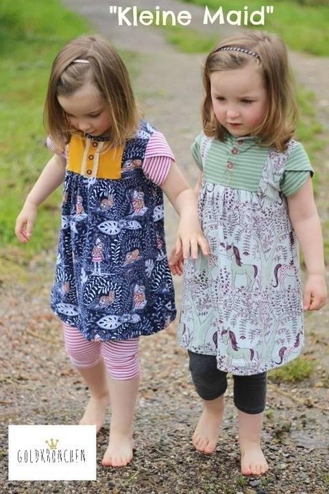 Kleine Maid Ebook, Shirt/ Kleid Gr.62/68-134/140 bei Makerist sofort runterladen