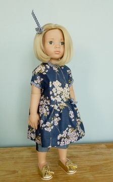 Download Asumi, doll clothes pattern, 2 pieces, for 18 inch doll, Götz, american girl - Sewing Patterns immediately at Makerist