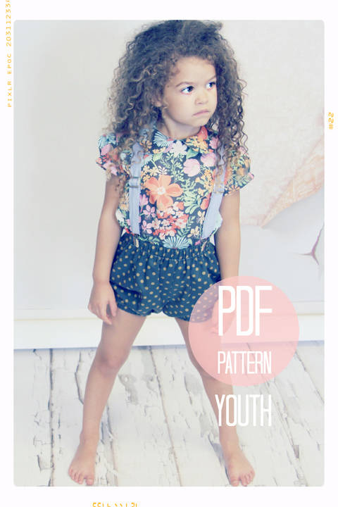 Download Bloomer Bubble Shorts Sewing Pattern - Youth (7 + 8) immediately at Makerist