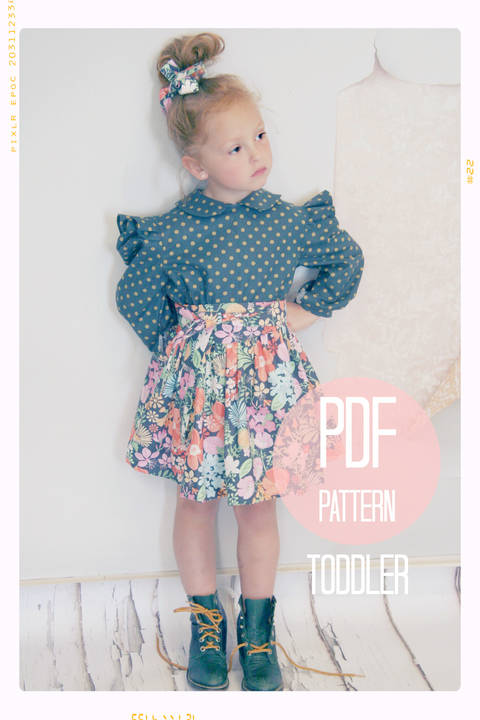 Download Extra Full Twirl Skirt + Sash Sewing Pattern - Baby + Toddler (18 months, 2T + 3T) immediately at Makerist