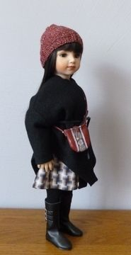 Download Black checked fabric…(pattern : 4 pieces for 18 inch doll, fit American Girl, We Girl, Maru and Friend, Bonnie and Pearl, Götz - Sewing Patterns immediately at Makerist