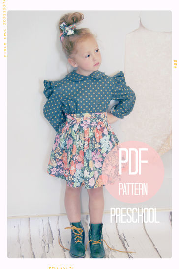 Download Extra Full Twirl Skirt + Sash Sewing Pattern - Preschool (4T, 5 + 6) - Sewing Patterns immediately at Makerist