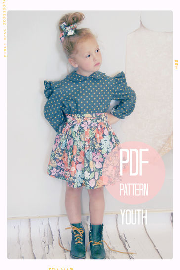Download Extra Full Twirl Skirt + Sash Sewing Pattern - Youth (7 + 8) - Sewing Patterns immediately at Makerist