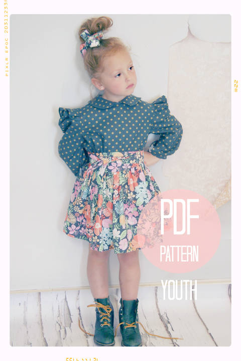 Download Extra Full Twirl Skirt + Sash Sewing Pattern - Youth (7 + 8) immediately at Makerist
