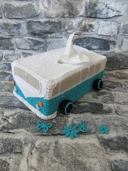 Taschentücher Box Bus Häkelanleitung Kosmetiktücher - Häkelanleitungen bei Makerist sofort runterladen
