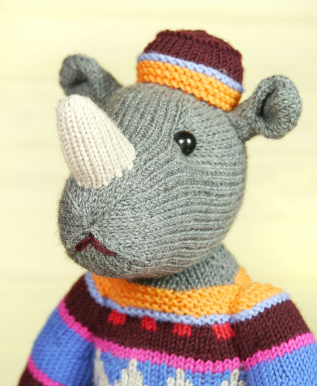 Download MARVIN THE RHINO knitting pattern - Knitting Patterns immediately at Makerist