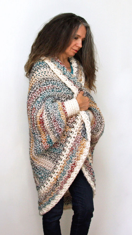 Crochet Pattern Luxe Oversized Shrug