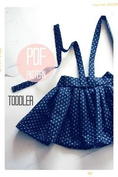 Download High Waist Suspender Skirt + Sash Sewing Pattern - Baby + Toddler (18 months, 2T + 3T) - Sewing Patterns immediately at Makerist