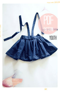 Download High Waist Suspender Skirt + Sash Sewing Pattern - Youth (7 + 8) - Sewing Patterns immediately at Makerist