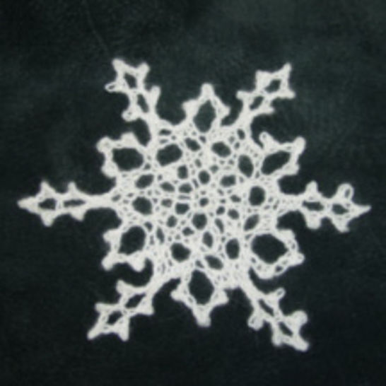 Download Knitted Snowflake Pattern - Knitting Patterns immediately at Makerist