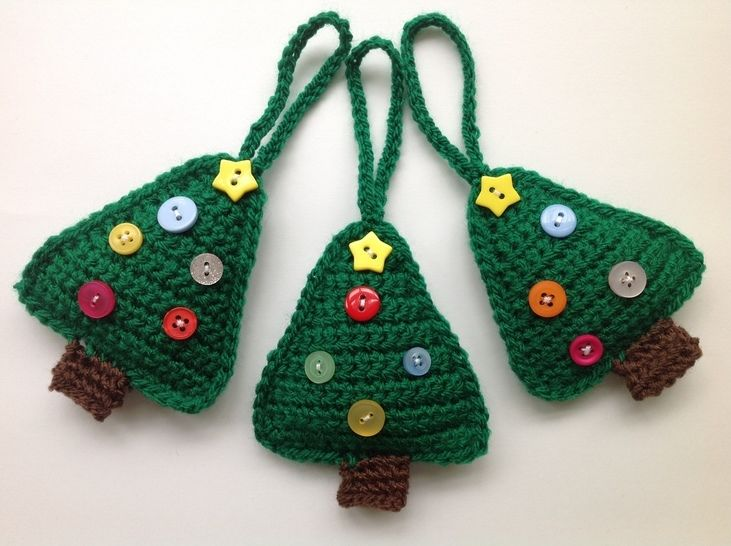 Download Christmas Tree Decoration - Crochet Pattern - Crochet Patterns immediately at Makerist