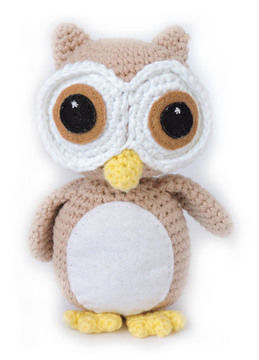 Download Owl Amigurumi Pattern - Oliver the Wide Eyed Owl - Crochet Patterns immediately at Makerist