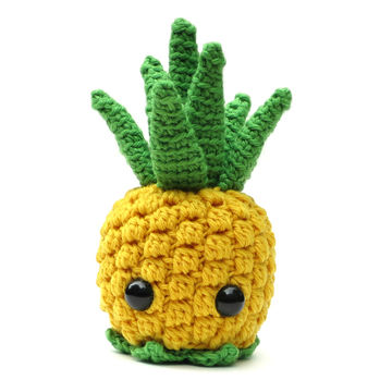 Download Bill the Pineapple - amigurumi crochet pattern - Crochet Patterns immediately at Makerist
