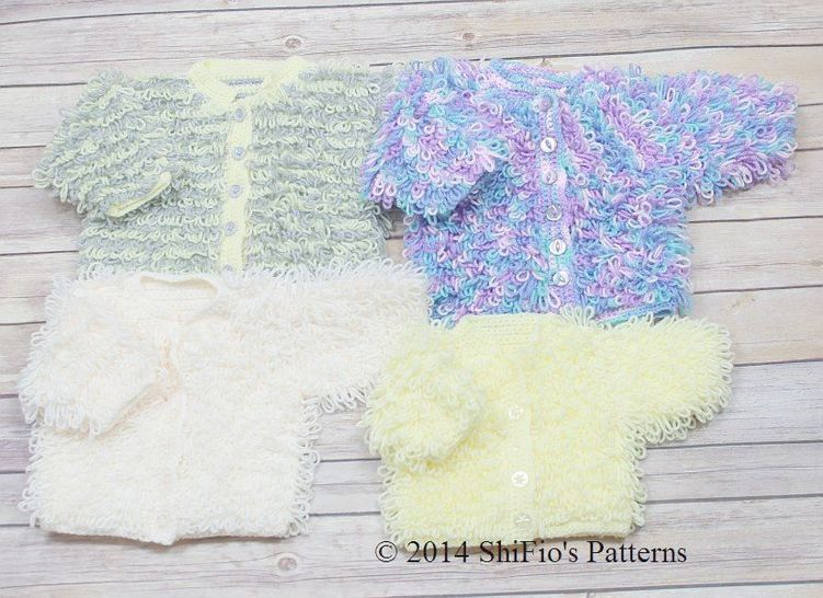 Download CP220 Loopy Cardigans Baby Crochet Pattern #220 - Crochet Patterns immediately at Makerist