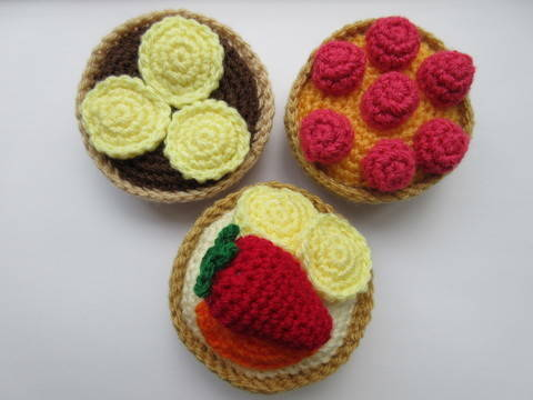 Download Fruit tart - crochet pattern immediately at Makerist