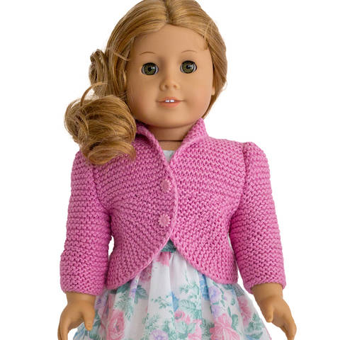 Download Summer cardigan  18 inch  dolls immediately at Makerist