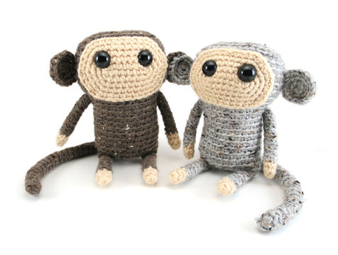 Amigurumi Monkey Pattern Free : Tiao pi the monkey amigurumi crochet pattern