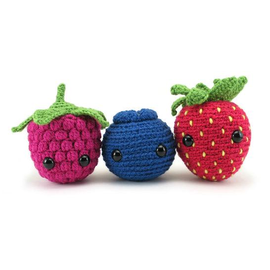 Download The Very Berry Trio - amigurumi crochet pattern - Crochet Patterns immediately at Makerist