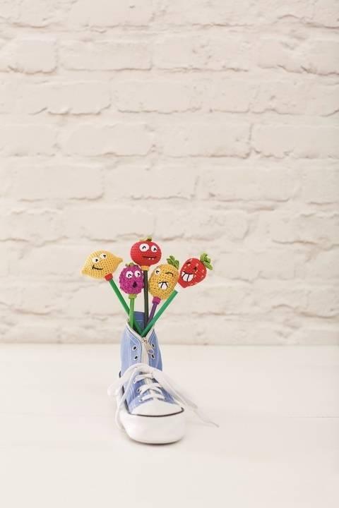 Amigurumi Früchteaufstecker für Stifte bei Makerist sofort runterladen