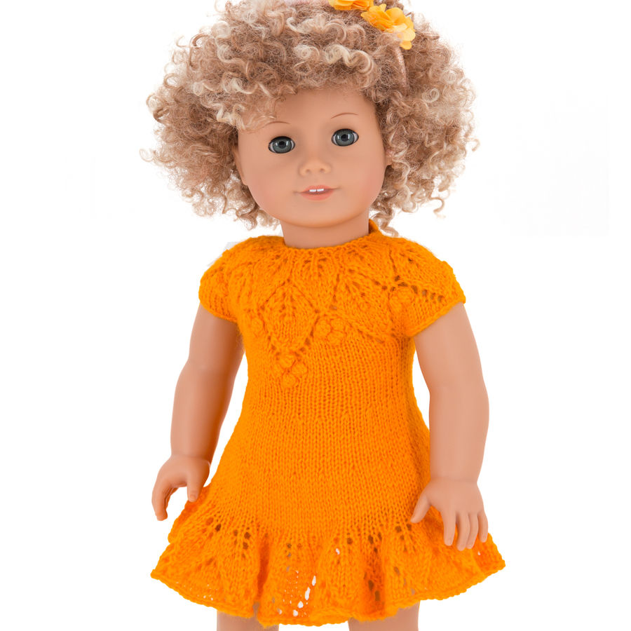 Doll summer dress for 18 inch / 45 cm dolls, doll clothes pattern ...