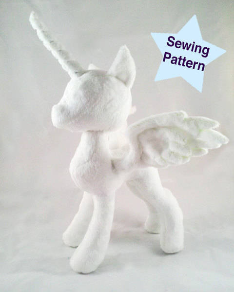 Download Alicorn Pony Princess Plushie Pattern immediately at Makerist