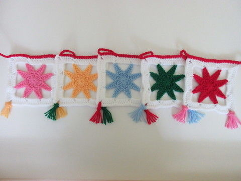 Download Christmas star bunting - crochet pattern - Crochet Patterns immediately at Makerist