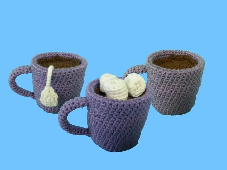 Download Coffee Tea & Cocoa Amigurumi Crochet Pattern + Tutorial - Beginner Friendly - Crochet Patterns immediately at Makerist