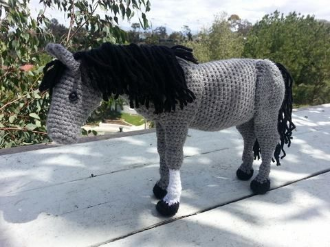 Amigurumi Horse Tutorial : Brown white horse sorrel paint horse crochet animal amigurumi