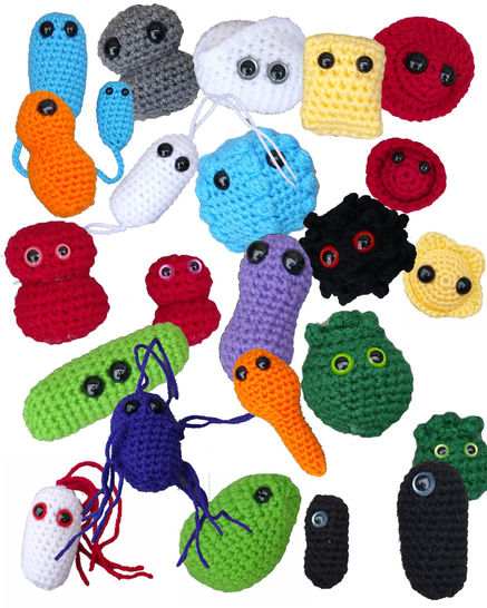 Download 19 Giant Microbe Patterns in 1 - Ebook With 38 Total Patters - Germ Amigurumi - Beginner Friendly - Crochet Patterns immediately at Makerist