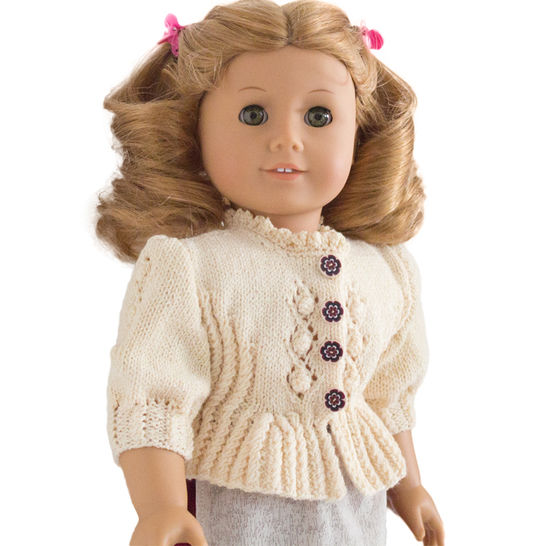 Download Folk dirndl cardigan 18 inch  dolls  - Knitting Patterns immediately at Makerist