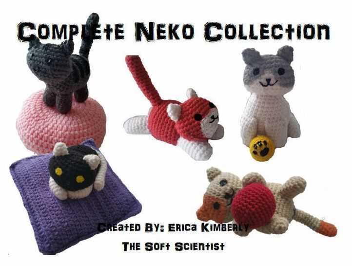 Download Neko Atsume Japanese Cat Amigurumi Pattern + Photo Tutorials - Beginner Friendly - Crochet Patterns immediately at Makerist