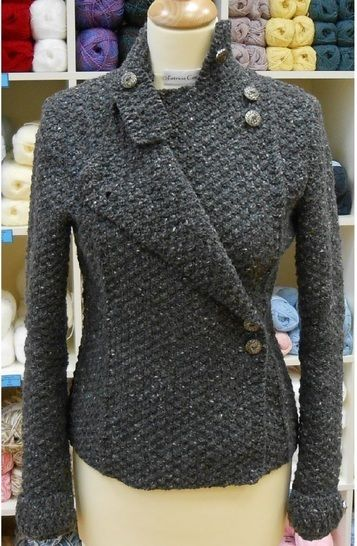 Download Military Jacket -knitting pattern - Knitting Patterns immediately at Makerist