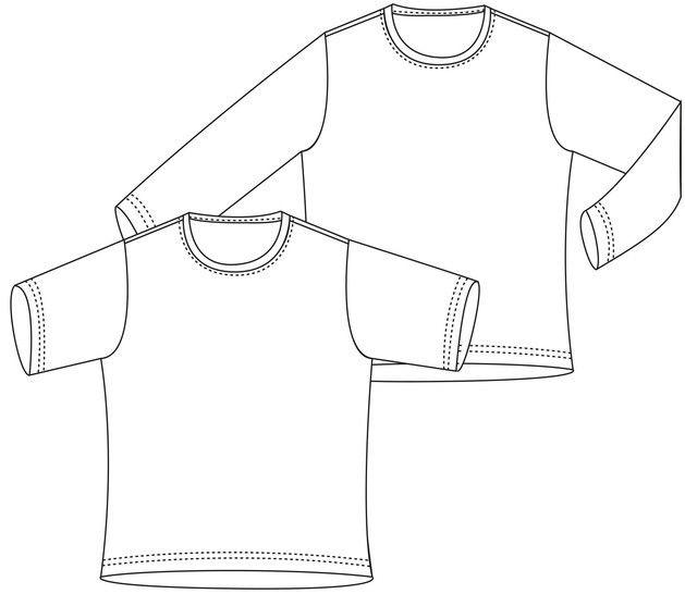 """""""Basic-Shirt"""", Gr.98-164 - Nähanleitungen bei Makerist sofort runterladen"""