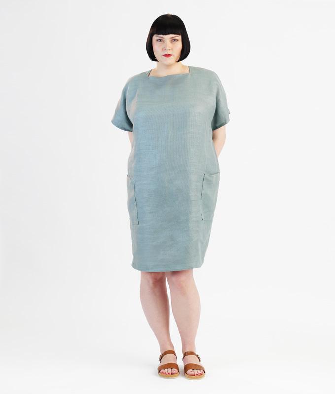 Schnittmuster und Nähanleitung Kleid Rose für große Größen