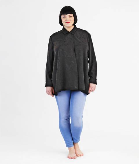 Schnittmuster und Nähanleitung Bluse Michelle für große Größen bei Makerist sofort runterladen
