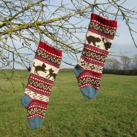 Download Christmas Stocking - with Kittens - Knitting Patterns immediately at Makerist