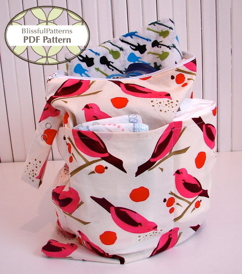 Download Wet, Swim, Cloth Diaper Waterproof Bag with bonus Sandwich & Snack Bag - Sewing Patterns immediately at Makerist