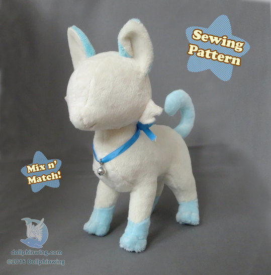 Download Cat Feline Plush Sewing Pattern - Sewing Patterns immediately at Makerist