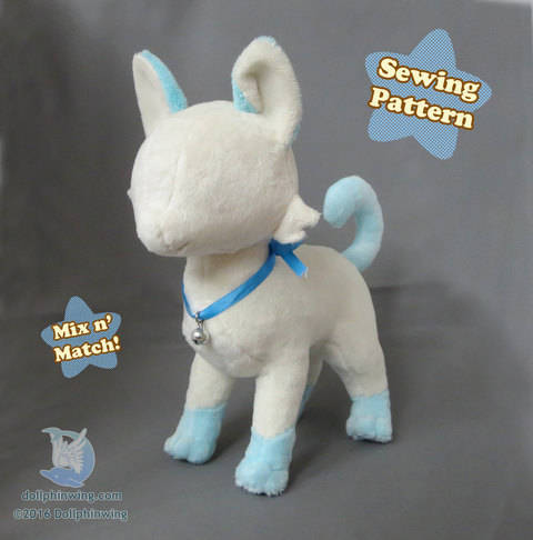 Download Cat Feline Plush Sewing Pattern immediately at Makerist