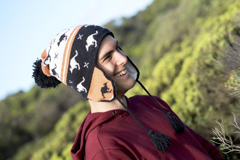 Download Kangaroo Chullo Earflap Hat – Reynolds Knitting - Knitting Patterns immediately at Makerist