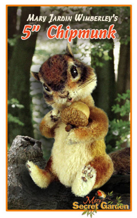 Download Chipmunk Sewing Pattern, Jointed, Squirrel Toy, Posable, Woodland immediately at Makerist