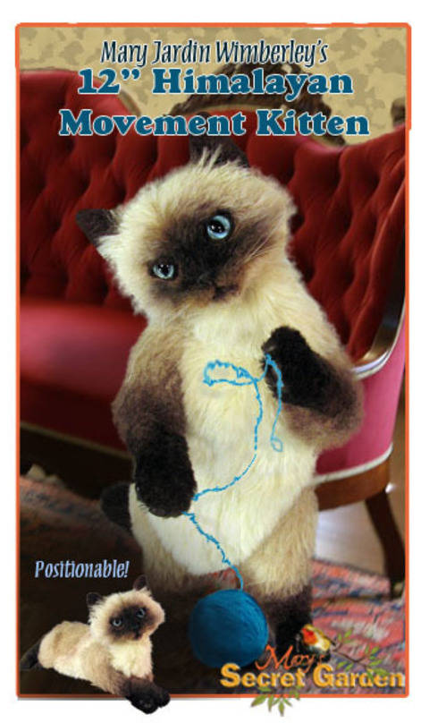 Download 12 cm Himalayan Cat Sewing pattern, Realistic Plush,Teddy Bear Style immediately at Makerist