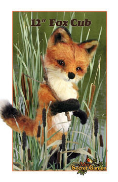 Download 30cm Plus Fox Sewing Pattern, Teddy Bear Style Fox Toy, Posable  - Sewing Patterns immediately at Makerist