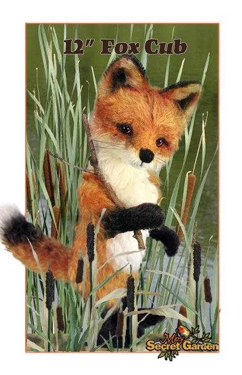 Download 30cm Plus Fox Sewing Pattern, Teddy Bear Style Fox Toy, Posable  immediately at Makerist